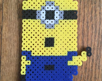 Waving Minion Perler Bead Art