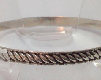 Vintage Sterling Bangle Bracelet ~ Free Shipping