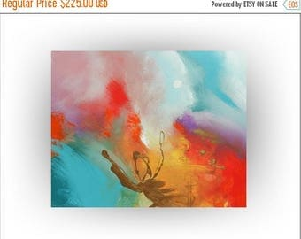 ON SALE Abstract Original Painting Palette Knife Wall Decor Acrylic Metallic Gold - Beyond the Moon - 24 x 30 - Skye Taylor