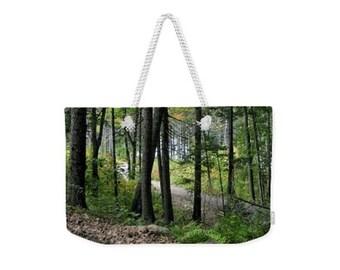 Weekender Tote Bag, Patrushka Maine Tote Bag, Woods Coastal Maine Botanical Gardens, Overnight Bag, Gym Bag! Canvas Tote, FREE SHIPPING USA