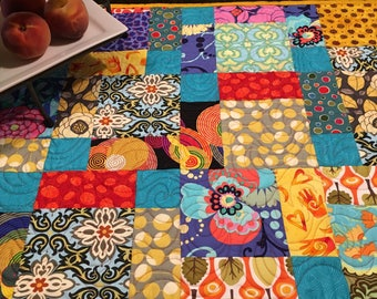 Custom Orders Welcome -- Multi-Color Table Runner (or Wall Hanging) - This Item Sold Offline.