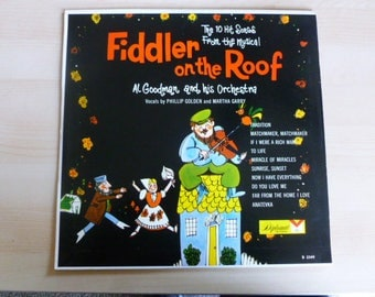 Fiddler On The Roof Al Goodman and his Orchestra Vinyl Record LP D2349 Diplomat Records