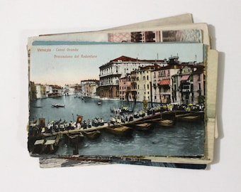 15 Vintage Venice Italy Used Postcards