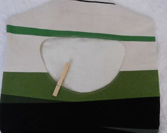 Recycled Fabric Clothes Pin Holder - Clothes Pin Bag - Ready to Ship