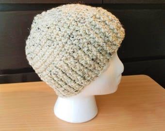 Oatmeal Crochet Hat