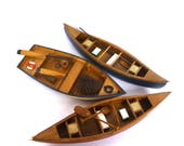 VINTAGE Model CANOES and ROWBOAT/ trio