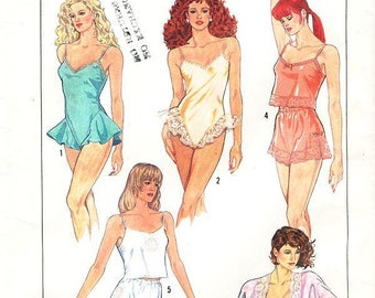 Sz 6/8/10 - Vintage Simplicity Pattern 8393- Misses' Kimono, Tap Shorts And Bias Camisole And Teddy