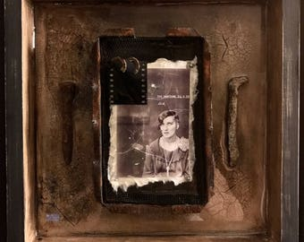 Case NO 1 Mugshot Photograph Assemblage Found Objects Art By Artist