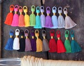 """NEW Colors, Tasseltastic: 8+ Handmade Cotton Tassels for Jewelry Making, Designer Quality Tassel for Necklaces, 2 3/8"""", You Choose Colors"""