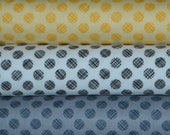 Patrick Lose Fabrics. Poppies in Bloom. Linen Dots Maize; Linen Dots Black. Linen Dots Grey. - Choose your cut and color