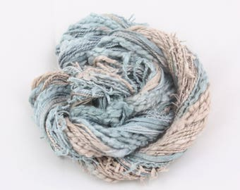 Beige and Grey hand dyed Thread weaving thread sewing quilting cotton ribbon Embroidery thread embellishment Waldorf doll hair