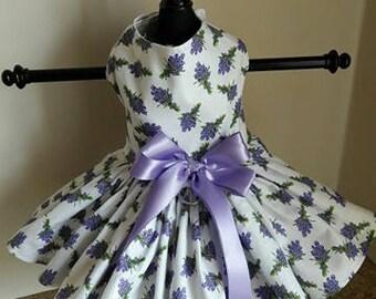 Dog Dress Purple flowers