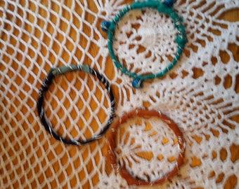 Recycled Sari Silk Ribbon Bracelets