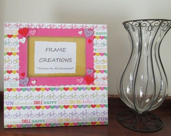 5x7 Best Friends Themed - Hand Decorated Picture Frame