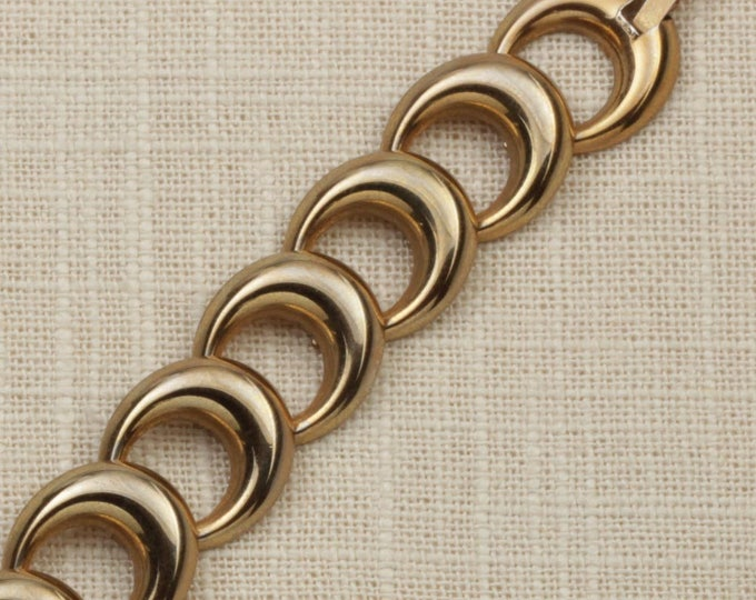 Circles Vintage Bracelet Gold Chain Costume Jewelry 16S