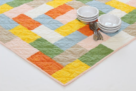 Square Modern Quilted Table Topper