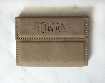 Custom Leatherette Business Card Holder, Personalized Custom Engraved Corporate Gifts, Boss Gift, Graduation Gift, Card Holder
