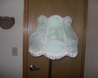 New Seafoam Victorian Brocade Shade for Floor Lamp w/Mogul (beeeg) Socket