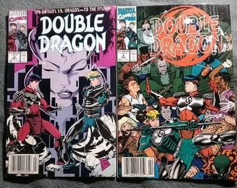 Double Dragon Marvel Comic Book lot of two 1991 vintage