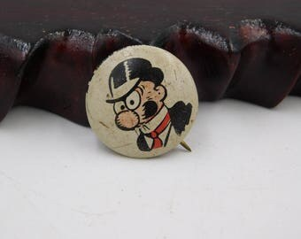 1940's Cartoon Pinback Button From Kelloggs Pep Cereal  Barney Google dr44