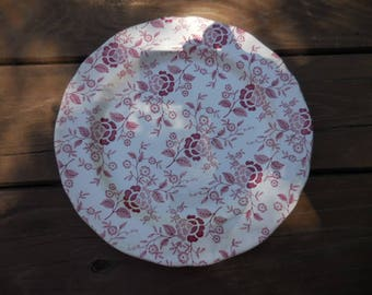 Vintage 1960s Red and White Royal Staffordshire Heirloom Ironstone by J & G Meakin England Dinner Plate Decorative Floral/Flowers