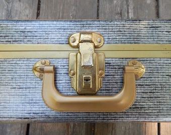 Small Metal Trunk, Vintage Metal Suitcase