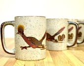 Vintage Roadrunner Coffee Mugs Complete Set of Four Otagiri Japan