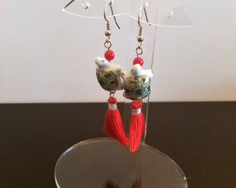 Asian Inspired Tassel Earrings