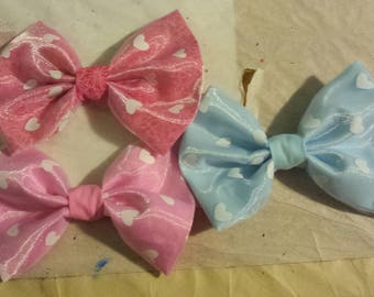 Heart Lace Tulle Bows
