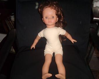 vintage lissi doll vinyl 126 w. germany sleepy eye brown eyes hair