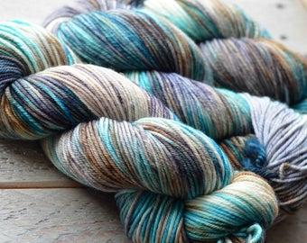 Hand Dyed Superwash Merino Yarn - Worsted weight - Dirty Cowboy