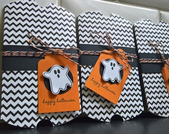 Ghost Gift Card Envelope, Halloween Gift Card Holder, Ghost Treat Box, Halloween Candy Package, Halloween Party Favor Boxes Ghost Pillow Box