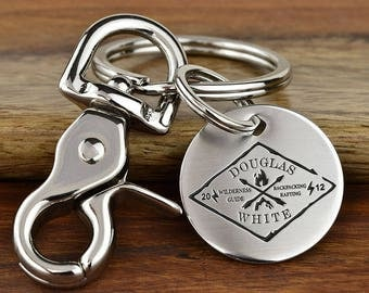 Client Appreciation Keychain, Client Appreciation Gift, Business Logo Keychain, Client Gift, Custom Engraved Logo Keychain - Message on back