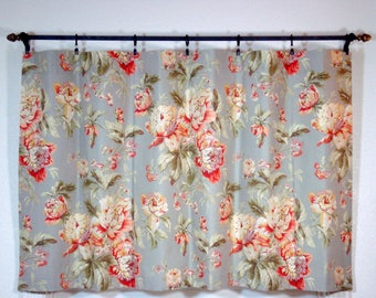 Waverly Fleuretta Cafe Curtains Kitchen Cafe Curtains Window Curtain Floral Bouquet Cafe Curtains Bedroom Cafe Curtains