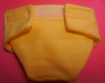 Ready to Ship SIZE #2 cloth Doll Diaper soft yellow adjusts washable fits bitty baby some baby alive all gone American Girl doll & more