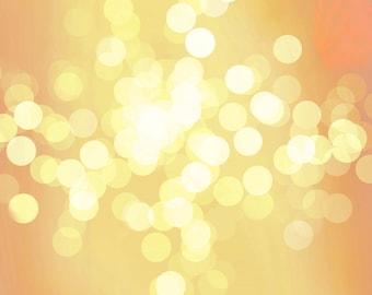 """Gold Shimmer Printable Bokeh background glitter sparkle - 12"""" x 12"""""""