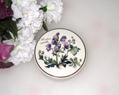 Villeroy and Boch Botanical Covered Trinket Dish / Aconitum Napellus / Purple Flowers / Luxembourg Porcelain