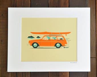 Hoe Waa-Mokuluas - 8x10 Matted Print (11x14)