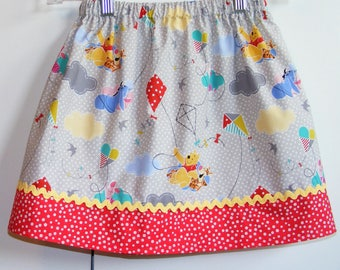 Pooh With Dots  skirt  (18 mos, 2T, 3T, 4T, 5, 6, 7, 8, 10)