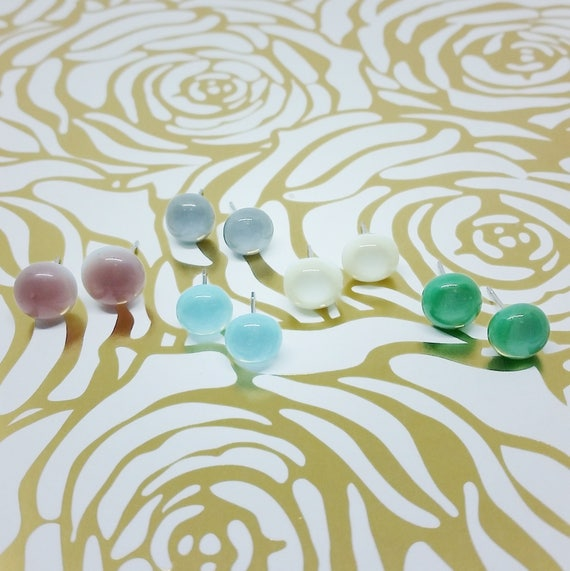 Custom Color and Quantity, Spring/Winter Collection Glass Earrings, Wedding, Prom or Formal Attire