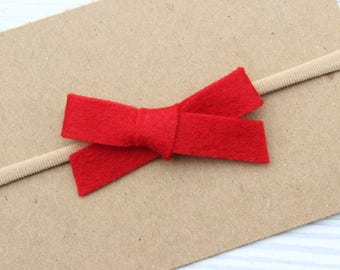 Red {WILLOW} - Headband or Clip - One Size Fits All