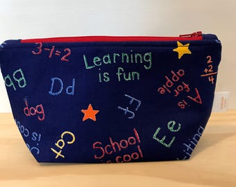 Back to School Zipper Bag
