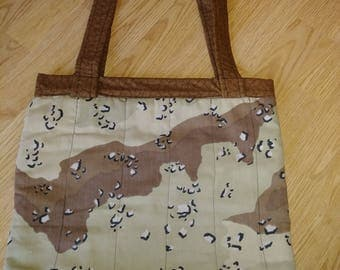 Camouflage Tote Bag with Snap Closure