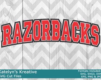 Razorbacks Arched SVG Files
