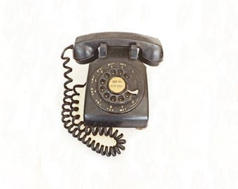 Antique Telephone,  Western Electric Telephone, Bakelite Telephone, Home Decor, Rotary Dial Up, Collectible, Memorabiia, Relics, Decorative