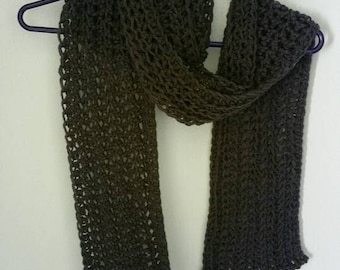 Crochet Easy One Skein Scarf