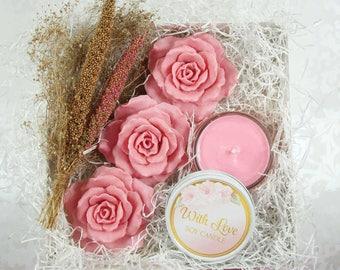 With Love Blush Rose Gift Box for Her - Luxurious Gift for Mothers Day Or Any Occasion /
