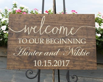 Classic wedding welcome sign/personalized wedding welcome sign/wood wedding welcome sign/welcome sign/personalized wedding sign/wooden sign