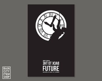 Back to the Future // As Seen on TV! // Doc Brown Clock Tower // Minimalist Movie Poster