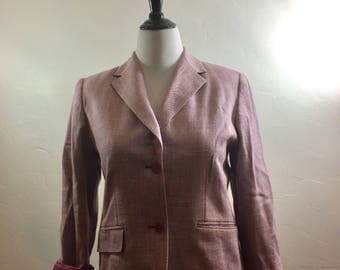 Vintage Clothing, Vintage Blazer, Vintage Pendleton, Pendleton Blazer, Pink Blazer, Vintage Jacket, Pink Pendleton, Vintage, Oregon, Boho